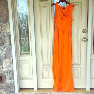 Bright orange Maxi dress